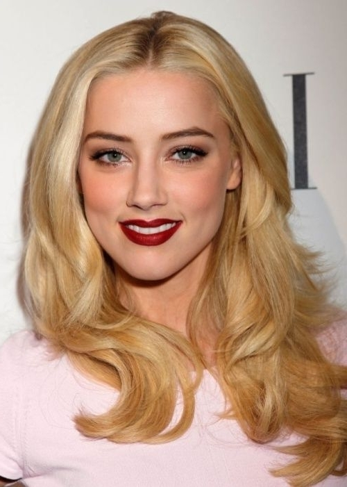50 Best Blonde Hair Color Ideas | Herinterest Actress Amber Regarding Amber Waves Blonde Hairstyles (View 4 of 25)