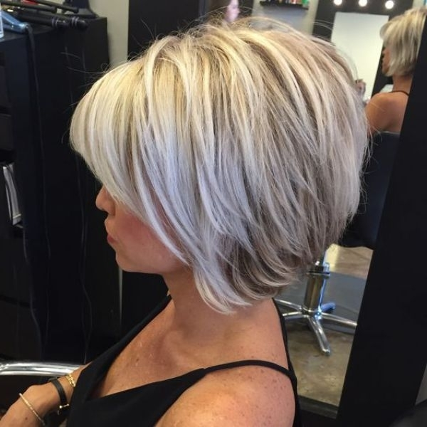 50 Best Inverted Bob Hairstyles 2018 – Inverted Bob Haircuts Ideas With Regard To Multi Tonal Golden Bob Blonde Hairstyles (View 7 of 25)