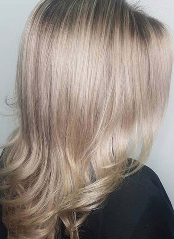 50 Best Silver Blonde Hair Colors For Long Straight Hairstyles 2018 With Regard To Silver Blonde Straight Hairstyles (View 2 of 25)