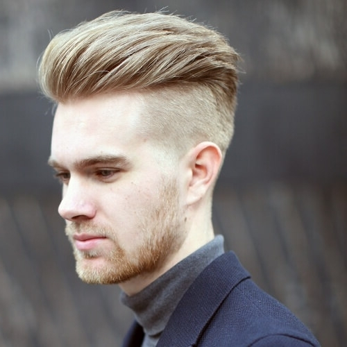 50 Blonde Hairstyles For Men – Men Hairstyles World With Long Top Undercut Blonde Hairstyles (View 2 of 25)