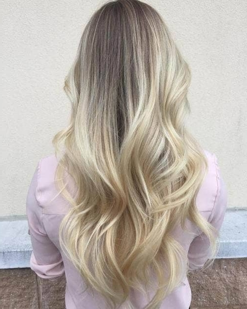50 Bombshell Blonde Balayage Hairstyles That Are Cute And Easy For 2018 Inside Classic Blonde Balayage Hairstyles (View 13 of 25)