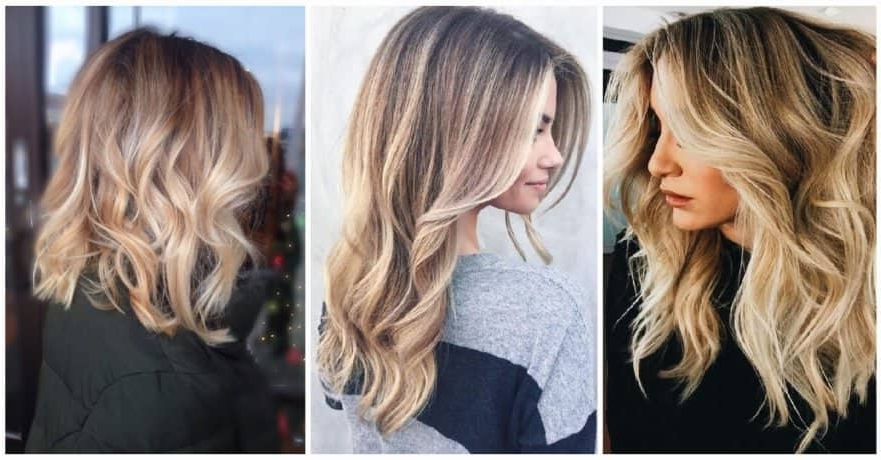 50 Bombshell Blonde Balayage Hairstyles That Are Cute And Easy For 2018 Throughout Layered Bright And Beautiful Locks Blonde Hairstyles (View 15 of 25)