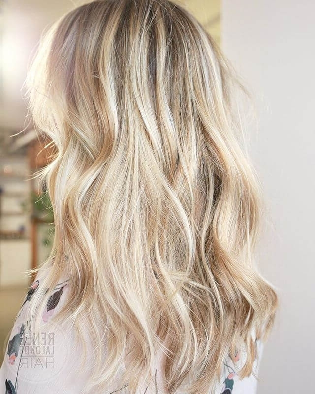 50 Bombshell Blonde Balayage Hairstyles That Are Cute And Easy For 2018 Within Classic Blonde Balayage Hairstyles (View 15 of 25)
