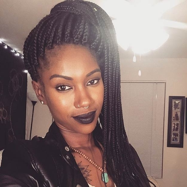 50 Box Braids Hairstyles That Turn Heads | Stayglam In Box Braids Pony Hairstyles (View 7 of 25)