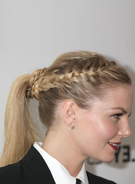 50 Braided Hairstyles That Are Perfect For Prom Intended For Pretty Messy Pony Hairstyles With Braided Section (View 24 of 25)