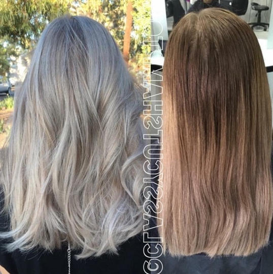 50 Brilliant Balayage Hair Color Ideas – Thefashionspot Within Pearl Blonde Highlights (View 16 of 25)