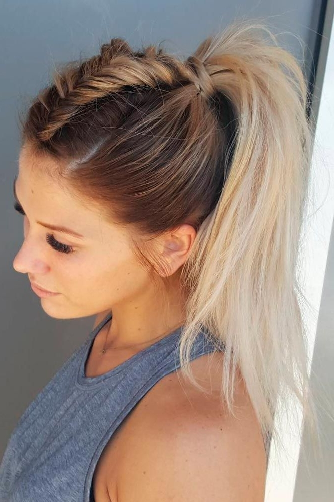 50+ Charming Braided Hairstyles | Hair | Pinterest | Easy, Spring Regarding Mohawk Braid And Ponytail Hairstyles (View 2 of 25)