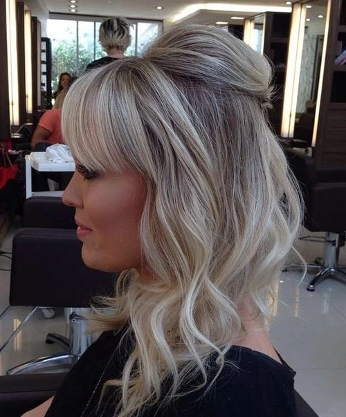 50 Current Blonde Hair Color Inspirations – Page 33 Of 49 – Fallbrook247 Regarding Ash Blonde Half Up Hairstyles (View 9 of 25)