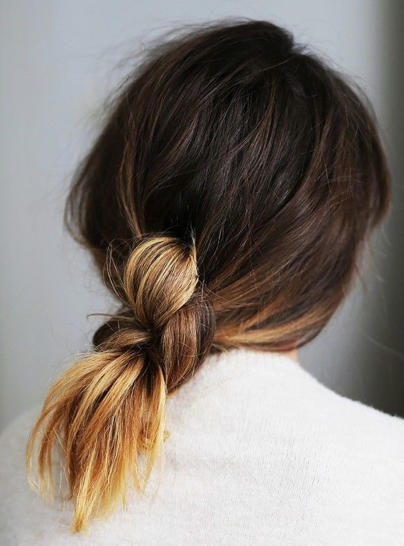 50 Effortless Hairstyles For Cool Girls | ???????? ??! | Pinterest Within Braided And Knotted Ponytail Hairstyles (View 5 of 25)