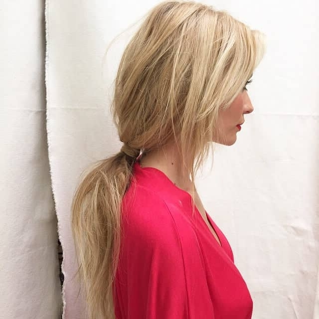 50 Fresh Hairstyle Ideas With Side Bangs To Shake Up Your Style Inside Waist Length Ponytail Hairstyles With Bangs (View 16 of 25)