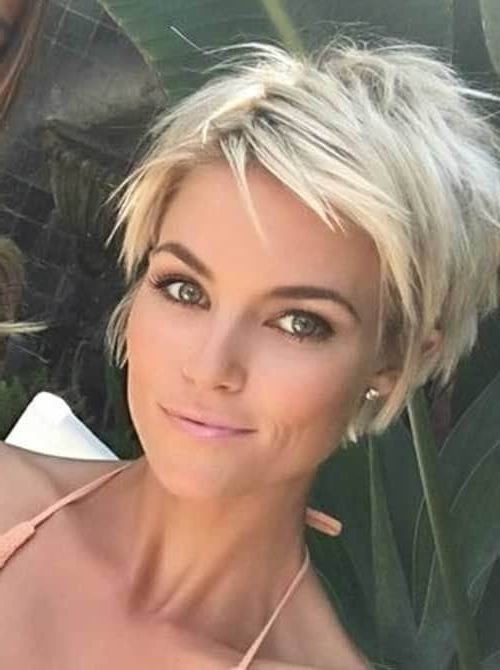 50 Fresh Short Blonde Hair Ideas To Update Your Style In 2018 In Recent Blonde Pixie Hairstyles With Short Angled Layers (View 20 of 25)