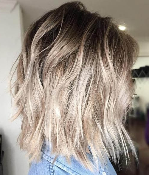 50 Fresh Short Blonde Hair Ideas To Update Your Style In 2018 In Textured Medium Length Look Blonde Hairstyles (View 20 of 25)