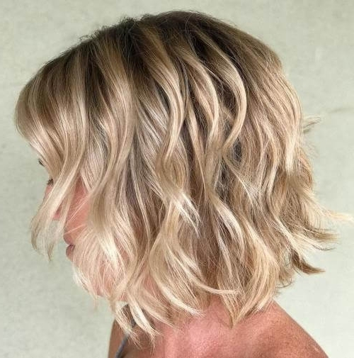 50 Fresh Short Blonde Hair Ideas To Update Your Style In 2018 Intended For Angled Wavy Lob Blonde Hairstyles (View 12 of 25)