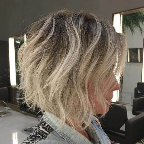 50 Fresh Short Blonde Hair Ideas To Update Your Style In 2018 Intended For Shaggy Highlighted Blonde Bob Hairstyles (View 17 of 25)