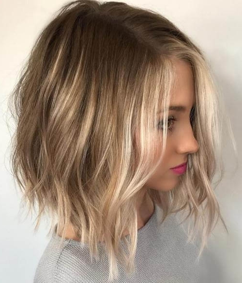 50 Fresh Short Blonde Hair Ideas To Update Your Style In 2018 Throughout Caramel Blonde Lob With Bangs (View 17 of 25)