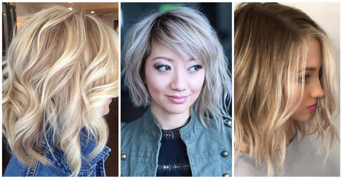 50 Fresh Short Blonde Hair Ideas To Update Your Style In 2018 Within Casual Bright Waves Blonde Hairstyles With Bangs (View 15 of 25)