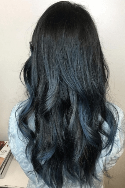 50 Fun Blue Hair Ideas To Become More Adventurous In 2018 In Grayscale Ombre Blonde Hairstyles (View 25 of 25)