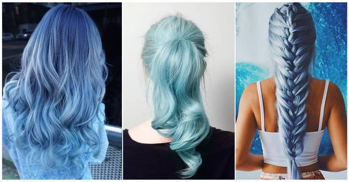50 Fun Blue Hair Ideas To Become More Adventurous In 2018 Within Grayscale Ombre Blonde Hairstyles (View 23 of 25)