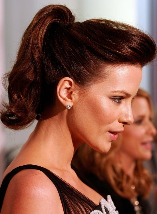 50 Hairstyles That Take Less Than 10 Minutes To Style Inside Pompadour Pony Hairstyles (View 8 of 25)