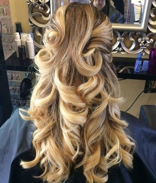 50 Half Updos For Your Perfect Everyday And Party Looks | Hair Pertaining To Half Updo Blonde Hairstyles With Bouffant For Thick Hair (View 9 of 25)