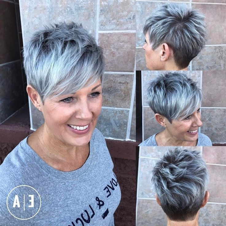 50 Hottest Balayage Hairstyles For Short Hair – Balayage Hair Color For Most Recent Silver And Brown Pixie Hairstyles (View 20 of 25)