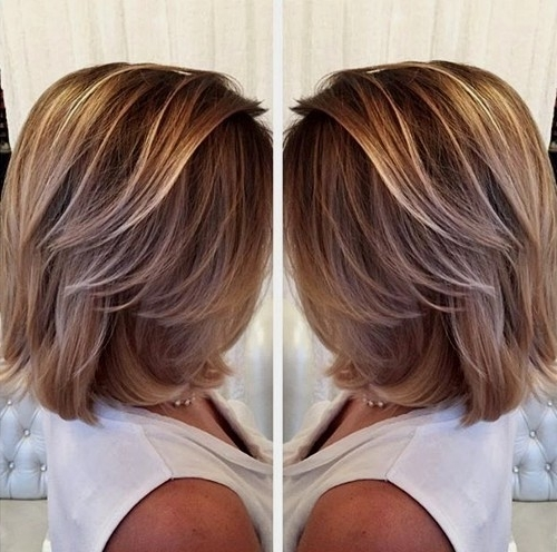50 Hottest Balayage Hairstyles For Short Hair – Balayage Hair Color Regarding Brown And Dark Blonde Layers Hairstyles (View 18 of 25)