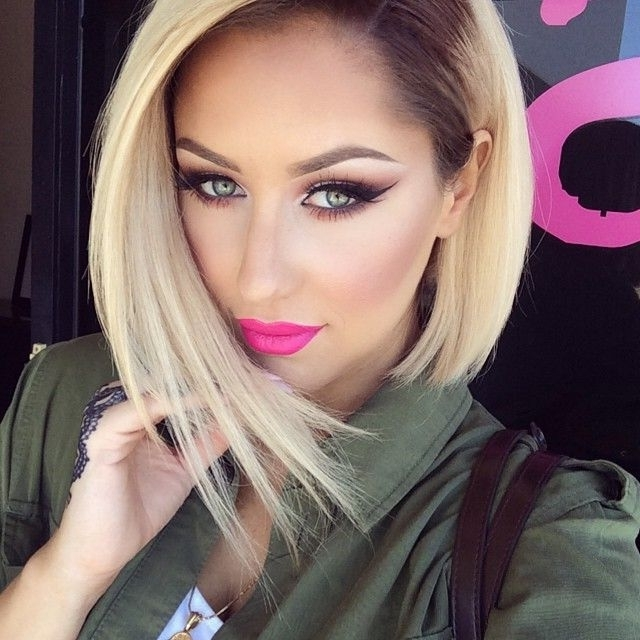 50 Hottest Bob Hairstyles For 2018 – Best Bob Hair Ideas For Regarding Platinum Blonde Bob Hairstyles With Exposed Roots (View 23 of 25)