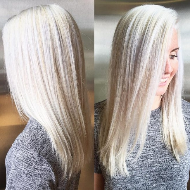 50 Ideas For Platinum Blonde Hair Color – Silvery Trend Pertaining To Light Golden Blonde With Platinum Highlights (View 22 of 25)