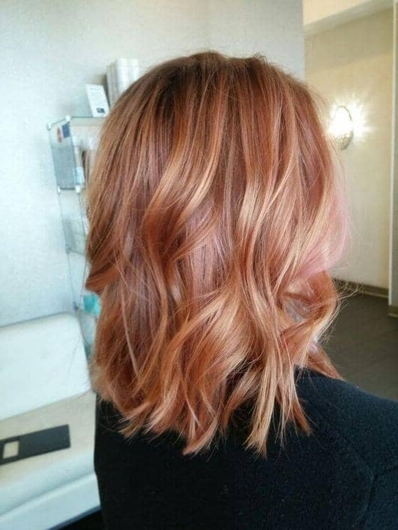 50 Irresistible Rose Gold Hair Color Looks For 2018 For Brunette Hairstyles With Dirty Blonde Ends (View 13 of 25)