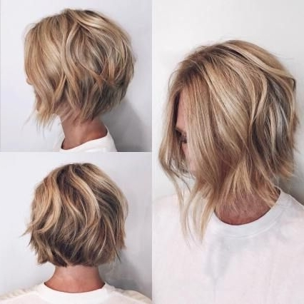 50 Layered Bob Styles: Modern Haircuts With Layers For Any Occasion Inside Curly Caramel Blonde Bob Hairstyles (View 17 of 25)