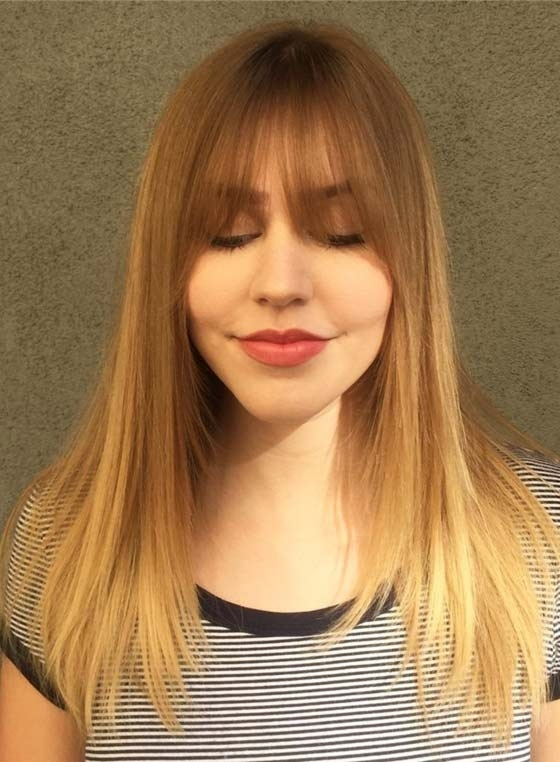 50 Layered Hairstyles With Bangs In Bi Color Blonde With Bangs (View 10 of 25)