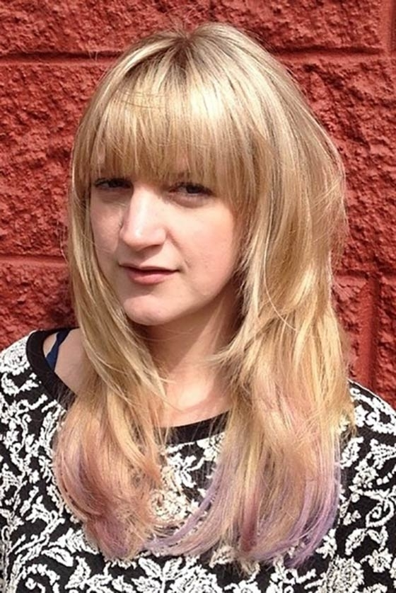 50 Layered Hairstyles With Bangs Throughout Bi Color Blonde With Bangs (View 11 of 25)