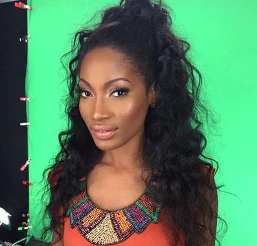 50 Most Magnetizing Hairstyles For Thick Wavy Hair – Page 29 Pertaining To High Curly Black Ponytail Hairstyles (View 25 of 25)