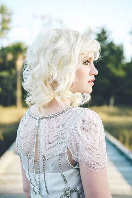 50 Nice Short Blonde Curly Hairstyles 2017 – 2018 – Blonde Intended For White Blonde Curls Hairstyles (View 12 of 25)