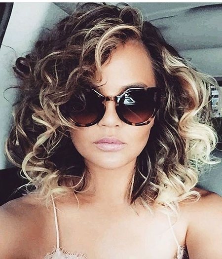 50 Nice Short Blonde Curly Hairstyles 2017 – 2018 – Blonde Regarding Curly Caramel Blonde Bob Hairstyles (View 25 of 25)