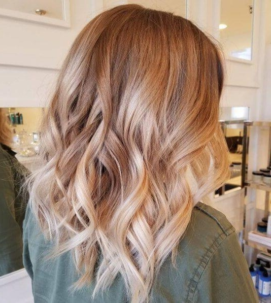 50 Of The Most Trendy Strawberry Blonde Hair Colors For 2018 Inside Light Chocolate And Vanilla Blonde Hairstyles (View 25 of 25)