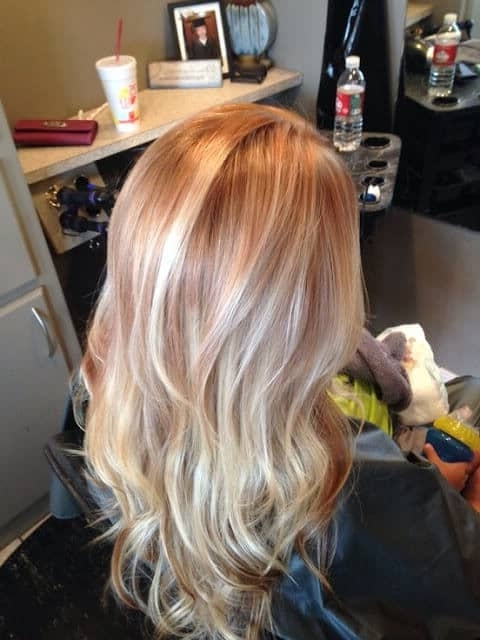 50 Of The Most Trendy Strawberry Blonde Hair Colors For 2018 Throughout Light Copper Hairstyles With Blonde Babylights (View 23 of 25)