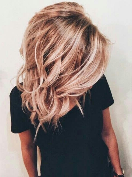 50 Of The Most Trendy Strawberry Blonde Hair Colors For 2018 With Ice Blonde Lob Hairstyles (View 18 of 25)