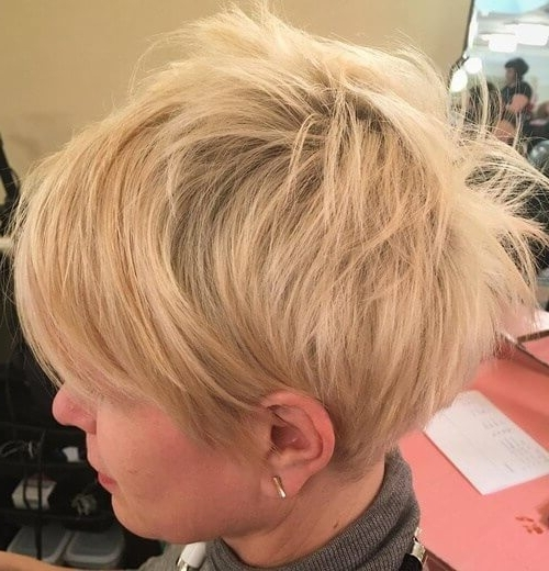 50 Pixie Haircuts You'll See Trending In 2018 Regarding Most Current Ash Blonde Pixie Hairstyles With Nape Undercut (View 11 of 25)