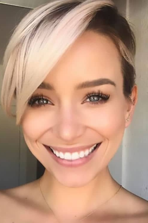 50 Pixie Haircuts You'll See Trending In 2018 Throughout Current Undercut Blonde Pixie Hairstyles With Dark Roots (View 6 of 25)