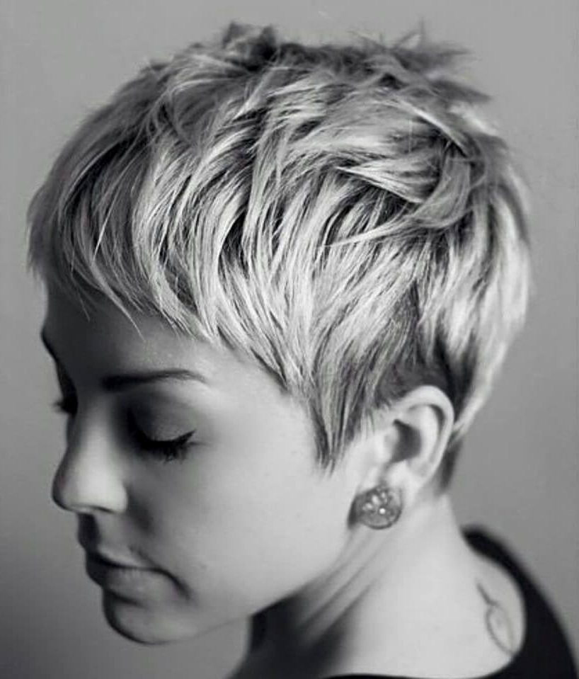 50 Pixie Haircuts You'll See Trending In 2018 With Regard To Sassy Silver Pixie Blonde Hairstyles (View 15 of 25)