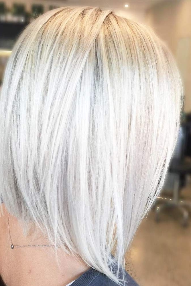 50 Platinum Blonde Hair Shades And Highlights For 2018 | Blonde Throughout Icy Waves And Angled Blonde Hairstyles (View 15 of 25)