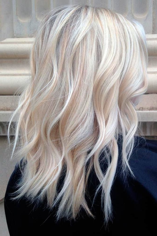 50 Platinum Blonde Hair Shades And Highlights For 2018 | Hair Intended For Platinum Highlights Blonde Hairstyles (View 2 of 25)