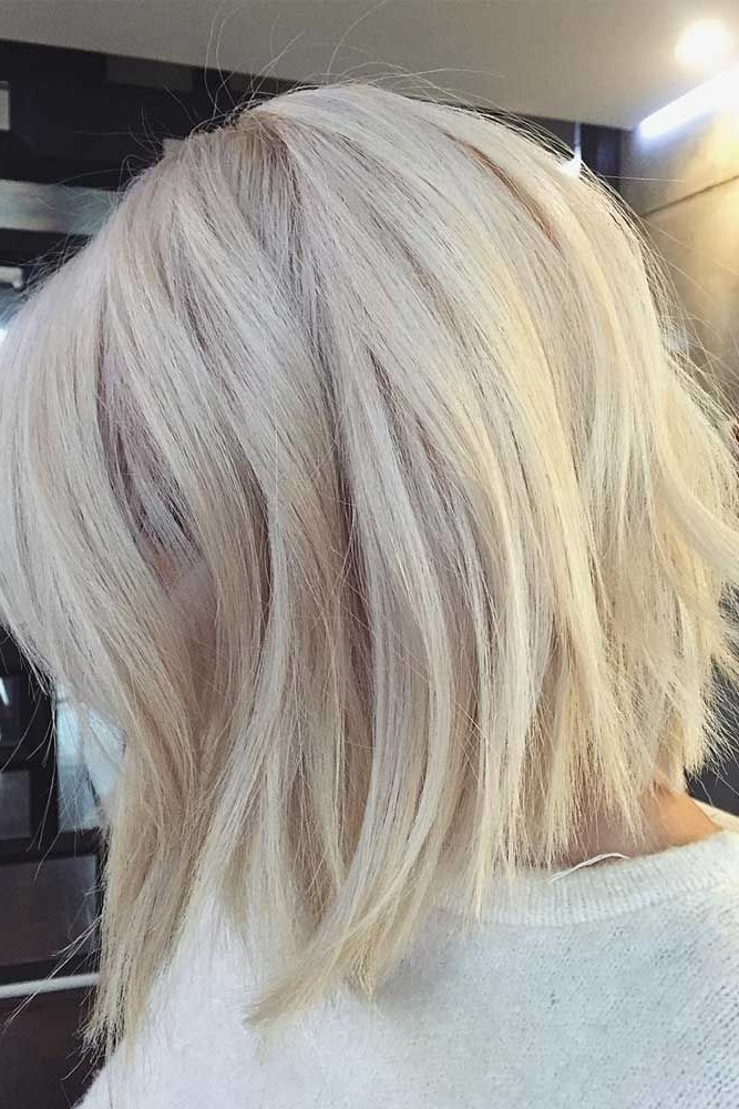 50 Platinum Blonde Hair Shades And Highlights For 2018 | Platinum With Regard To Cream Colored Bob Blonde Hairstyles (View 12 of 25)