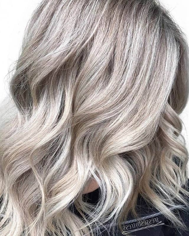 50 Platinum Blonde Hairstyle Ideas For A Glamorous 2018 In Dark Blonde Into White Hairstyles (View 3 of 25)