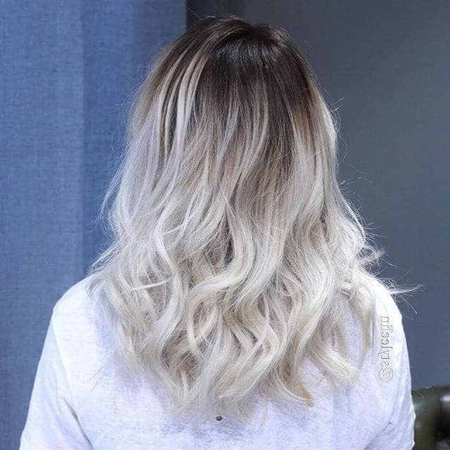 50 Platinum Blonde Hairstyle Ideas For A Glamorous 2018 In Dark Roots And Icy Cool Ends Blonde Hairstyles (View 9 of 25)