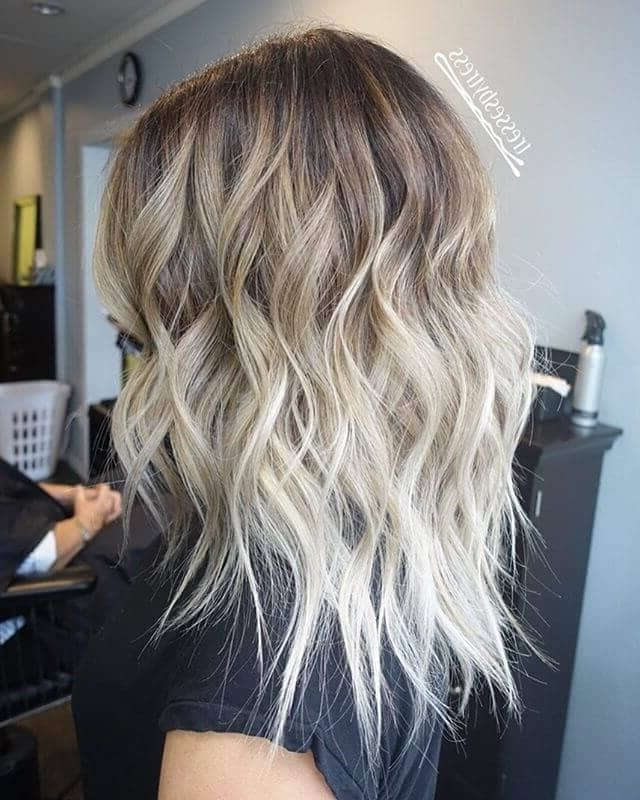 50 Platinum Blonde Hairstyle Ideas For A Glamorous 2018 In Icy Ombre Waves Blonde Hairstyles (View 12 of 25)