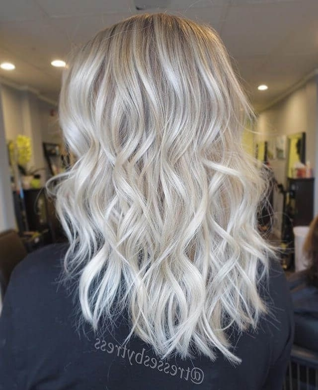 50 Platinum Blonde Hairstyle Ideas For A Glamorous 2018 | Platinum Intended For Glamorous Silver Blonde Waves Hairstyles (View 2 of 25)