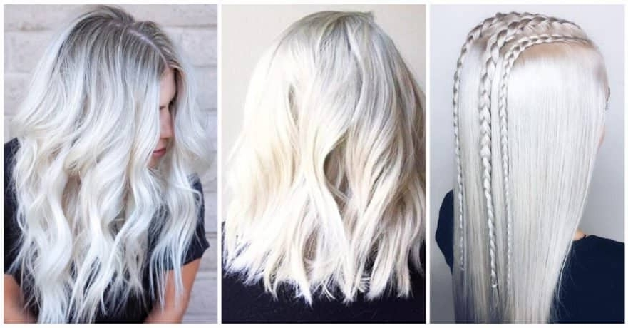 50 Platinum Blonde Hairstyle Ideas For A Glamorous 2018 Within Long Blonde Bob Hairstyles In Silver White (View 12 of 25)
