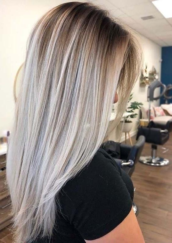 50 Pretty Sleek Shadow Blonde Hairstyles In 2018 | ?H??r Intended For Sleek Ash Blonde Hairstyles (View 5 of 25)